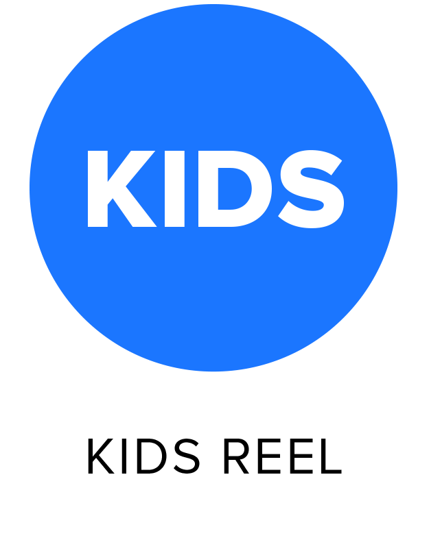 button that will take you to the Kids Editorial Reel video